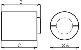 Размеры вытяжного вентилятора Punto Ghost