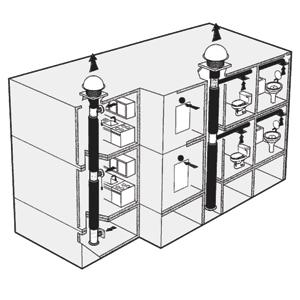 Активная вытяжка с центральной вытяжной системой