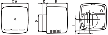 Размеры вытяжных вентиляторов Ariett
