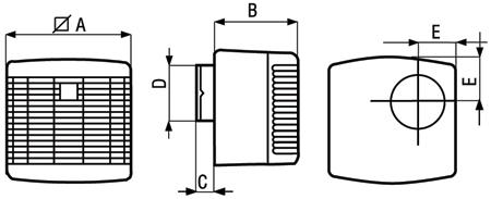 Размеры вытяжных вентиляторов Vort Press