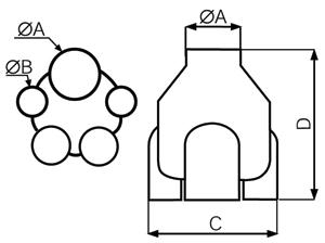 Размеры многозонального вентилятора Vmc Ariant